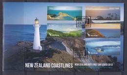 New Zealand 2013 New Zealand Coastlines FDC - FDC