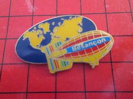 413B Pin's Pins / Beau Et Rare / THEME : MONTGOLFIERES / DIRIGEABLE BESANCON PLANISPHERE - Airships