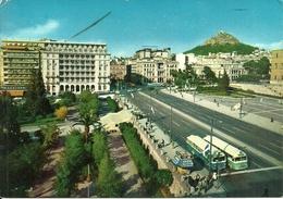 """Athens (Atene, Grecia) Amalia Avenue And """"King George"""" Hotel , Boulevard Amalia, Bus, Autobus - Grèce"""