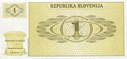 Slovenia 1 Tolar 1990 Pick 1s1 UNC - Slovenia