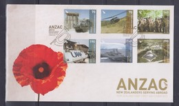 New Zealand 2013 ANZAC, New Zealanders Serving Abroad FDC - FDC