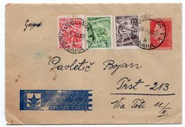 1952 YUGOSLAVIA, SLOVENIA, PREPRINTED COVER WITH 3 DIN TITO STAMP IN RED, USED FROM LJUBLJANA TO TRISETE - 1945-1992 Socialist Federal Republic Of Yugoslavia