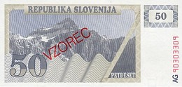 Slovenia 50 Tolar 1990 Pick 5s1 UNC - Slovenia