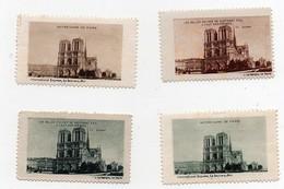 Erinnophilie Vignette Notre Dame De Paris Les Belles églises Ne Suffisent Pas Il Faut Des Prêtres (4 Vignettes) - Sonstige