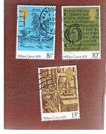 GRAN BRETAGNA (UNITED KINGDOM) -  SG 1014. 1017  -  1976  BRITISH PRINTING 500^ ANNIVERSARY   - USED° - Usati