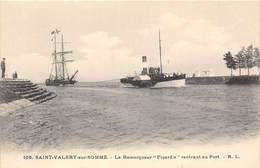 """80-SAINT-VALERY-SUR-SOMME- LE REMORQUEUR """" PICARDIE"""" RENTRANT AU PORT - Saint Valery Sur Somme"""