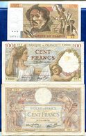 LOT 3 BILLETS 100FR DIVERS - Francia