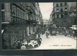 CPA - LORIENT - Rue Des Fontaines, Très Animé - Tramway - Lorient