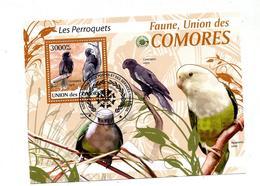 Bloc Oblitere Perroquet - Comores (1975-...)