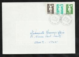 Lettre Circulée De Saint Pierre De Chandieu 12/08/1991 AVANT LE PREMIER JOUR (18/08) Du N°2711 Et Les 2616 Et 2617 TB - 1989-96 Marianne Du Bicentenaire