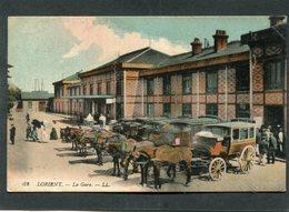 CPA - LORIENT - La Gare, Très Animé - Attelages - Lorient