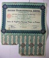 1960 Anciens Etablissements EIFFEL - Action De 25 Nouveaux Francs Au Porteur - Actions & Titres