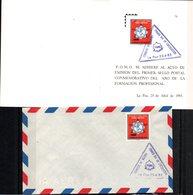 Bolivia 1985 CEFIBOL 1225s+T SPD Y Tarjeta Conmemorativa FOMO Año Internacional Formación Profesional. - Bolivie