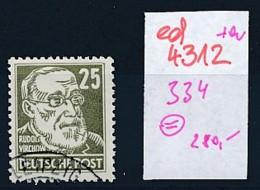 DDR Nr. 334 O   (ed4312  ) Siehe Scan - DDR