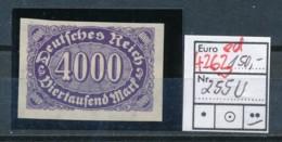 D.-Reich Nr.  255 U   **   (ed4263  ) Siehe Scan - Variétés