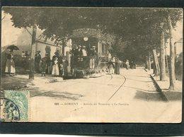CPA - LORIENT - Arrivée Du Tramway à La Perrière, Très Animé - Lorient