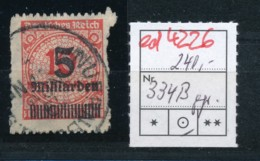 D.-Reich Nr. D 334 B    Geprüft  O    (ed4226 ) Siehe Scan - Allemagne