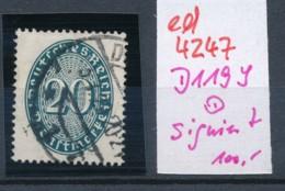 D.-Reich Nr. D 119 Y   O    (ed4247 ) Siehe Scan - Variétés