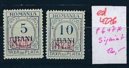 DP.-Rumänien  P6+7    Signiert  *  (ed4276 ) Siehe Scan - Occupation 1914-18