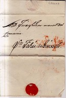 Prefilatelia Año 1841 Aprox  Carta Gerona A San Feliu Guixols Marca Nº11 G17 Cataluña - Espagne