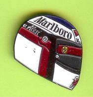 Pin's Casque Course Automobile Marlboro Alesi - 10CC15 - Car Racing - F1