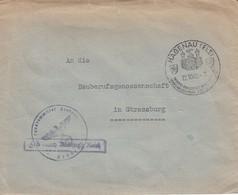 Env Frei Durch Ablösung Reich Obl HAGENAU (ELS) Du 22.10.42 FRÜHERE KAISERPFALZ IM REICHSFORST Adressée à Strassburg - Postmark Collection (Covers)