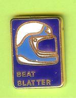 Pin's Casque Course Automobile? Beat Blatter  - 10CC16 - Car Racing - F1