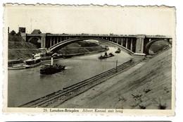 Lanaken-Briegden - Albert Kanaal Met Brug - 1951 - Uitg. Foto Centraal Lanaken - 2 Scans - Lanaken