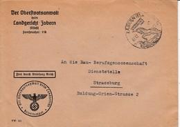 Env Frei Durch Ablösung Reich Obl ZABERN (ELS) Du 07.12.42 LUFTKURORT IN HERLICHER LAGE Adressée à Strassburg - Postmark Collection (Covers)