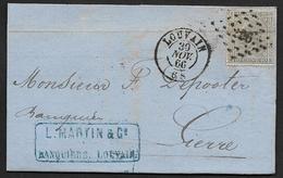 17 Sur Lettre Oblitération LP 226 CàD Louvain Le 30 Nov 1866 Vers Lierre (Lot 847) - 1865-1866 Profil Gauche
