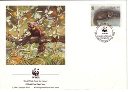 WWF  FDC 1992 IRLANDE MARTRE YVERT N°802 - FDC