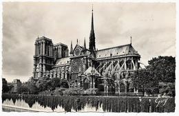 D 75 . CPSM Photo  1959 . PARIS . Cathedrale NOTRE-DAME . L'ABSIDE . - Notre Dame De Paris