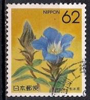 Japan 1990 - Prefectural Stamps - Flowers  43 - Gentiana Scabra Var. Buergeri - Kumamoto - 1989-... Empereur Akihito (Ere Heisei)