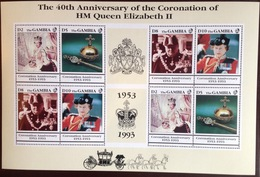 Gambia 1993 Coronation Anniversary Sheetlet MNH - Gambie (1965-...)
