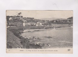 CPA BONE,LA PLAGE DE LEVER DE L AURORE ET LE CIMETIERE ARABE - Annaba (Bône)