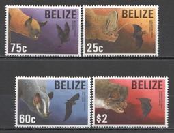 O870 BELIZE FAUNA WILD ANIMALS BATS #1125-28 SET MNH - Chauve-souris