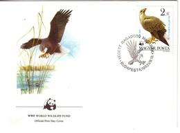 WWF  FDC 1983 HONGRIE AIGLE YVERT N°2866 - FDC