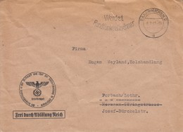 Env Frei Durch Ablösung Reich Obl SAARBRÜCKEN 2 Du 8.7.41 Adressée à Forbach - Germany