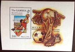 Gambia 1986 World Cup Winners Minisheet MNH - Gambie (1965-...)