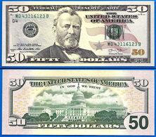 USA 50 Dollars 2013 NEUF UNC Mint Cleveland D4 Suffix B US Etats Unis United States Dollar Skrill Paypal Bitcoin - Billets De La Federal Reserve (1928-...)