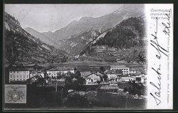 Cartolina Courmayeur, Village Larzei - Italy