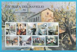 Erinnofilo 1988 ANFE La Pittura Di Enrico De Col Milano XIX Festa Del Naviglio - Erinnofilia