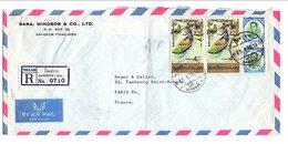 THAILANDE LETTRE RECOMMANDEE POUR LA FRANCE 1979 - Tailandia