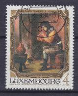 Luxembourg 1984 Mi. 1100   4 Fr Gemälde Painting Jean-Pierre Pescatore Museum Der Raucher By David Teniers D. J. 1610-90 - Luxemburg