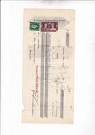 LONDON 1937 / FERDINAND SCHWARZMANN / 2 TIMBRES + FISCAUX  FRANCAIS AU DOS - United Kingdom