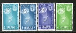 Sharjah - UAE 1963 Malaria Eradication Health Mosquito Sc 16-19 Set MNH # 13101A - Disease