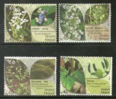 Nepal 2013 Herbal Medicinal Plants Health Tree Flowers Sc 936-39 4v MNH # 583 - Nepal