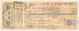 Traite De 1930, Ch. GUYOT - P. BAILLY & Cie, Bd. Saint Michel à PARIS, Avec Timbres Fiscaux - France