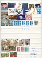 UK Discount Under Face Value Stamps X Postage Unfranked No Gum OFF Paper Lot - 1952-.... (Elizabeth II)