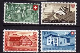 SWITZERLAND SUISSE SCHWEIZ SVIZZERA 1946 NATIONAL FETE NATIONALE FESTA NAZIONALE COMPLETE SET SERIE MNH - Switzerland